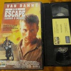 Cine: VHS- SIN ESCAPE (GANAR O MORIR)- JEAN CLAUDE VAN DAMME. Lote 178864113