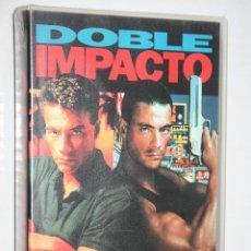 Cine: DOBLE IMPACTO (JEAN CLAUDE VAN DAMME) *** CINE VHS ACCION *** COLUMBIA TRISTAR (1992) . Lote 122985459