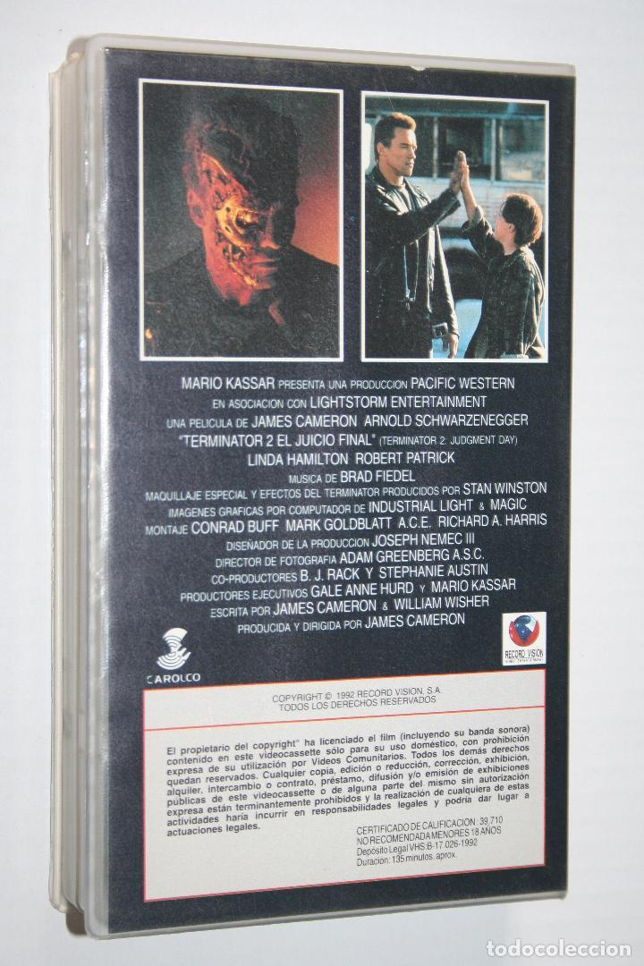 Cine: TERMINATOR 2 (A.Schwarzenegger) *** CINE VHS ACCION *** RECORD VISION (1992) - Foto 2 - 122985879