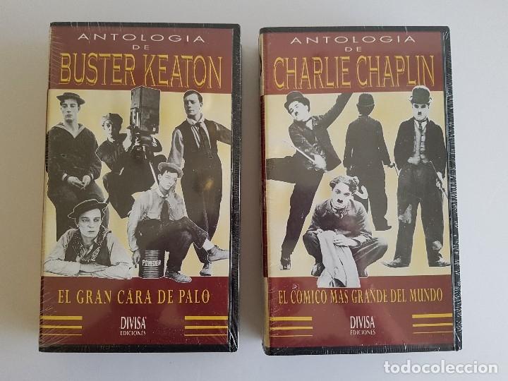 CHARLIE CHAPLIN Y BUSTER KEATON VHS PRECINTADAS (Cine - Películas - VHS)