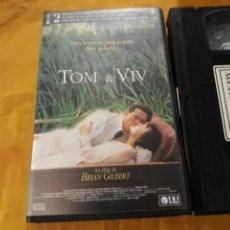 Cine: VHS- TOM & VIV- WILLEM DAFOE. Lote 123323656
