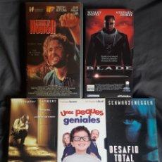Cine: LOTE 5 PELÍCULAS VHS BLADE, UNOS PEQUES GENIALES Y 3 MÁS. Lote 123571239