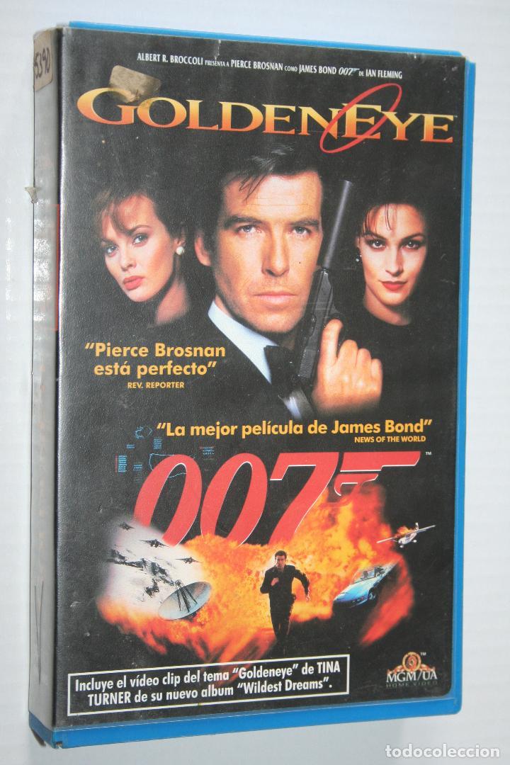 GOLDEN EYE (PIERCE BROSNAN) - JAMES BOND AGENTE 007 *** VHS CINE *** M G MAYER (1996) *** (Cine - Películas - VHS)
