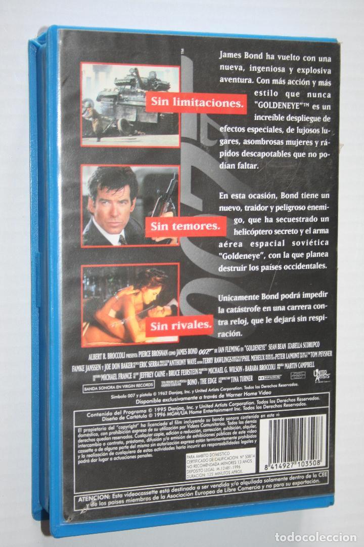 Cine: GOLDEN EYE (Pierce Brosnan) - James Bond AGENTE 007 *** VHS CINE *** M G MAYER (1996) *** - Foto 2 - 124249035