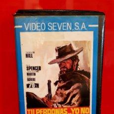 Cine: TU PERDONAS... YO NO (1967) - DIO PERDONA... IO NO! - 1ª EDICIÓN VIDEO SEVEN. Lote 124574779