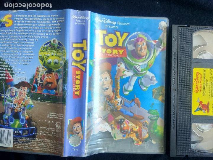 Cine: TOY STORY. DISNEY (CLÁSICOS). VHS ORIGINAL. CINE INFANTIL. DIBUJOS ANIMADOS. - Foto 2 - 125068003