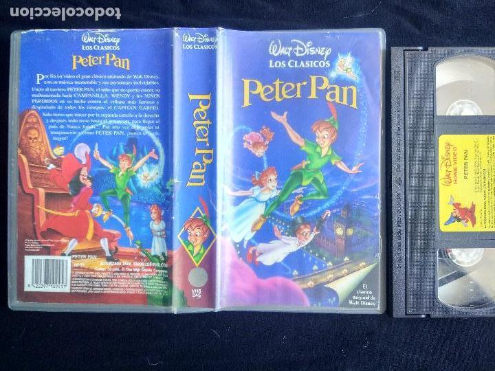 Cine: PETER PAN. DISNEY (CLÁSICOS). VHS ORIGINAL. CINE INFANTIL. DIBUJOS ANIMADOS. - Foto 2 - 125069443