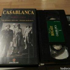 Cine: VHS- CASABLANCA- HUMPHREY BOGART. Lote 125130144