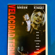 Cine: VELOCIDAD TERMINAL (1994) VHS - CHARLIE SHEEN. Lote 125144643
