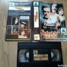 Cine: LA HERENCIA MALDITA VHS ( UNICA EN TC ). Lote 125206115