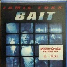Cine: TODOVHS: BAIT (JAMIE FOXX, DAVID MORSE, DOUG HUTCHISON, KIMBERLY ELISE) CAJA GRANDE.. Lote 125311931