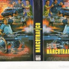 Cine: VHS - NARCOTRAFICO - JOHN AGAR / RICO BROWNING - ASESINO PARAPLEJICO. Lote 125336347