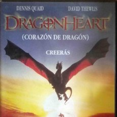 Cine: TODOVHS: DRAGONHEARTH (DENNIS QUAID, DAVID THEWLIS, PETE POSTLETHWAITE, DINA MEYER) CAJA GRANDE.. Lote 125407047