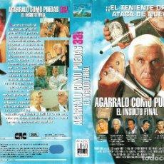 Cine: AGÁRRALO COMO PUEDAS 33 1/3. EL INSULTO FINAL - LESLIE NIELSEN, PRISCILA PRESLEY. Lote 126146075