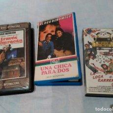 Cine: LOTE DE 3 PELÍCULAS VHS. Lote 126793387