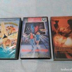 Cine: LOTE DE 3 PELÍCULAS VHS. Lote 126793503