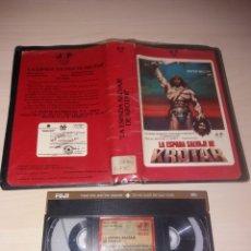 Cine: VHS - LA ESPADA SALVAJE DE KROTAR. Lote 126827510