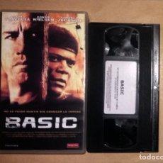 Cine: VHS • BASIC (2003) JOHN MCTIERNAN, JOHN TRAVOLTA. Lote 126953207