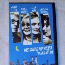 Cine: VENDO PELICULA VHS DE WOODY ALLEN MISTERIOSO ASESINATO EN MANHATTAN).. Lote 128033015