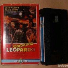 Cine: VHS • COMANDO LEOPARDO (1985) ANTONIO MARGHERITI, KLAUS KINSKI. Lote 128389095