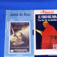 Cine: VENDO PELICULA VHS (JUANA DE ARCO) DE LUC BESSON. UNA 2ª CINTA DE REGALO. MAS INFORMACIÓN EN FOTOS.. Lote 129211067