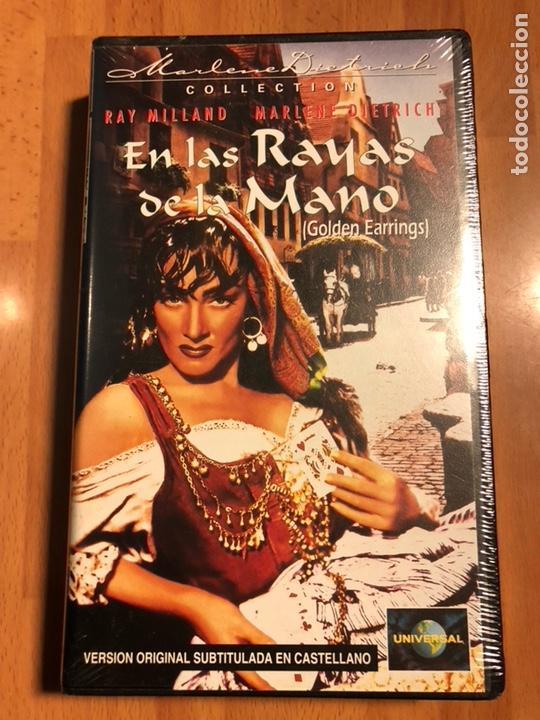 PELÍCULA VHS MARLENE DIETRICH.EN LAS RAYAS DE LA MANO.NUEVA PRECINTADA (Cine - Películas - VHS)