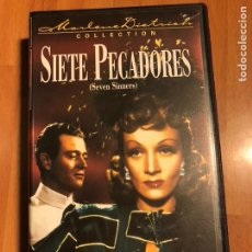 Cine: PELÍCULA VHS MARLENE DIETRICH SIETE PECADORES.NUEVA PRECINTADA. Lote 129666243