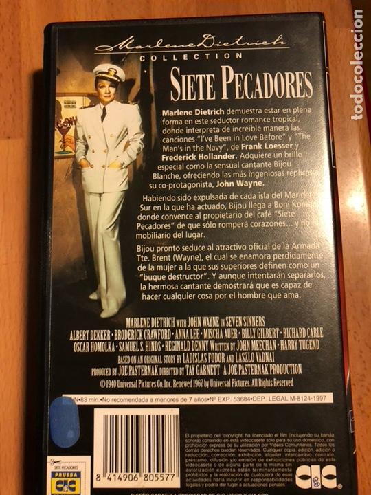 Cine: Película vhs Marlene Dietrich siete pecadores.nueva precintada - Foto 2 - 129666243
