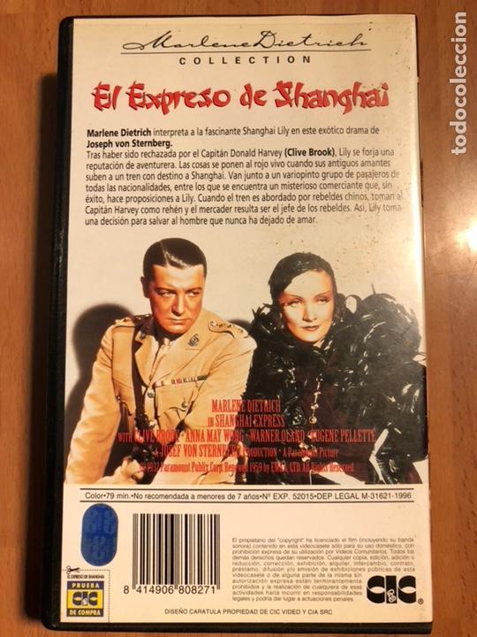 Cine: Película vhs Marlene Dietrich el expreso de shanghai - Foto 2 - 129666387