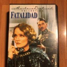 Cine: PELÍCULA VHS MARLENE DIETRICH FATALIDAD. Lote 129666674