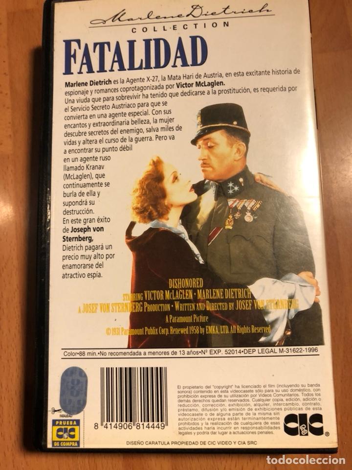 Cine: Película vhs Marlene Dietrich fatalidad - Foto 2 - 129666674
