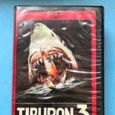 Cine: PELICULA VHS TIBURON 3 - ORIGINAL - TERROR. Lote 130065683