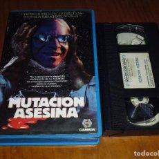 Cine: MUTACION ASESINA - VHS TERROR. Lote 130312322