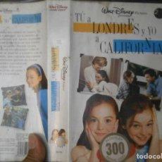 Cine: ¡¡TU A LONDRES Y YO A CALIFORNIA¡¡VHS ¡¡CAJA GRANDE¡¡. Lote 130452242
