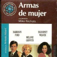 Cine: VHS DE LA PELICULA ARMAS DE MUJER. Lote 131030736
