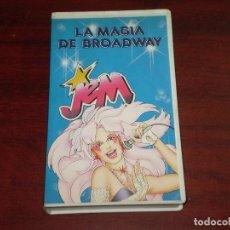Cine: VHS VIDEO- MUÑECA JEM - LA MAGIA DE BROADWAY- HASBRO 1989 - ORIGINAL- VER DETALLES. Lote 131076292