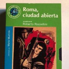 Cine: ROBERTO ROSSELLINI - ROMA, CIUDAD ABIERTA - VHS ORIGINAL COLECCIÓN EL MUNDO. Lote 131163604