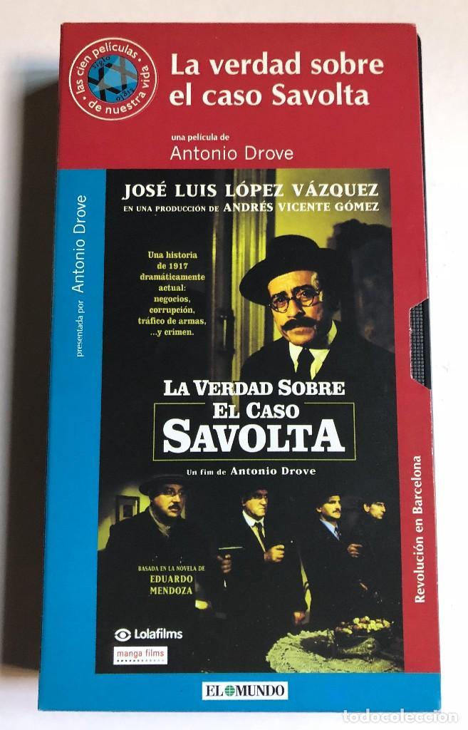 ANTONIO DROVE - LA VERDAD SOBRE EL CASO SAVOLTA - VHS ORIGINAL COLECCIÓN EL MUNDO (Cine - Películas - VHS)