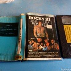 Cine: VHS- ROCKY 3 ,ORIGINAL VIDEOCLUB MUY RARA, AÑO 1982. Lote 131229267