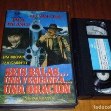 Cine: SEIS BALAS UNA VENGANZA UNA ORACION . VHS - PEDIDO MINIMO 6 EUROS. Lote 131699154
