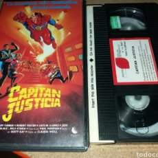 Cine: CAPITAN JUSTICIA- VHS- 1987- RAREZA DE SUPERHEROES- JOSE FRADE- DESCATALOGADA. Lote 132220627