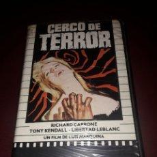Cine: CERCO DE TERROR VHS PRIMERA VEZ EN TODOCOLECCION,JOYA MUY DIFÍCIL DE CONSEGUIR. Lote 132248095