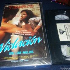 Cine: VIOLACION EN LAS AULAS- VHS- FERNANDO DI LEO. Lote 132795030