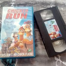 Cine: CHICKEN RUN - VHS - AÑO 2000 - THIS AIN´T NO CHICK FLICK! - UK. Lote 133258406