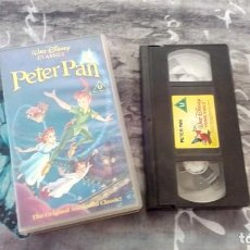Cine: PETER PAN - VHS - D202452 (PAL) - WALT DISNEY CLÁSICOS - AÑO 2001 - UK. Lote 133311338