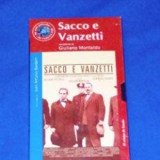 Cine: VENDO PELICULA VHS (SACCO E VANZETTI). NUEVA, SIN ESTRENAR (VER 2ª FOTO EN EL INTERIOR).. Lote 133662534