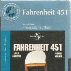 Cine: VHS PRECINTADA FAHRENHEIT 451 DE FRANCOIS TRUFFAUT . Lote 133672750