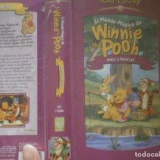 Cine: ¡¡EL MUNDO MAGICO DE WINNIE THE POOH VHS. Lote 133674390