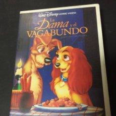 Cine: VHS LA DAMA Y EL VAGABUNDO CLASICO WALT DISNEY HOME VIDEO FILMAYER CAJA GRANDE. Lote 133675946