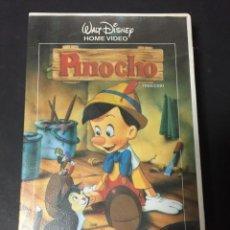 Cine: VHS PINOCHO CLASICO WALT DISNEY HOME VIDEO FILMAYER CAJA GRANDE. Lote 133676306